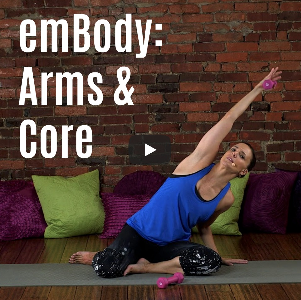 Arms and core workout video
