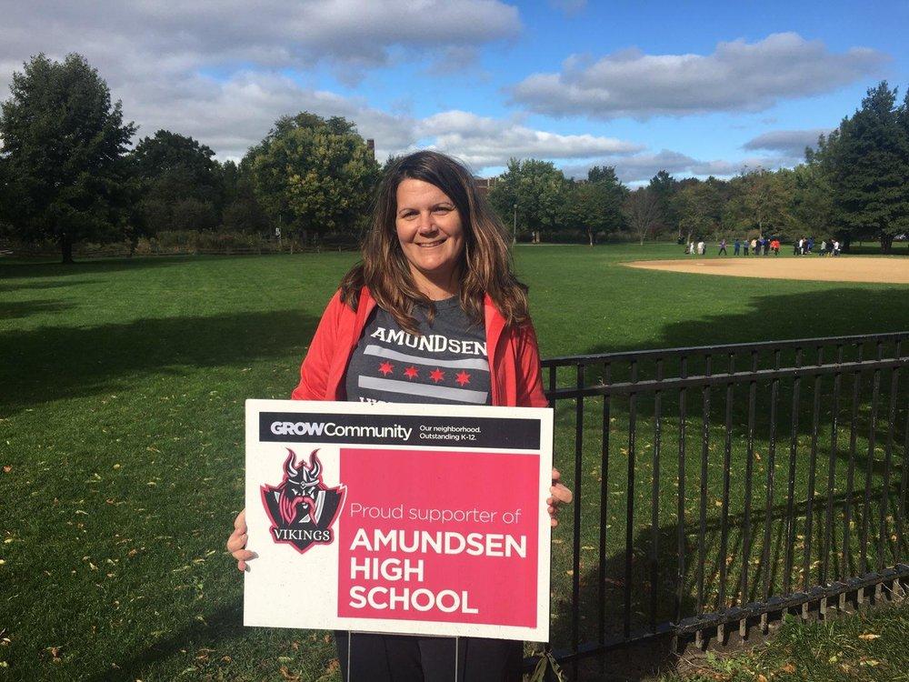 Amundsen parent Lauren DeJulio Bell
