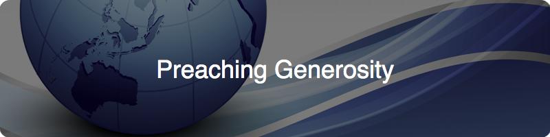 preaching generosity