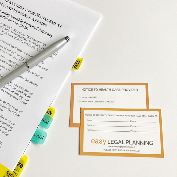 POWER OF ATTORNEY PACKAGE Easy Legal Planning - Easy legal documents