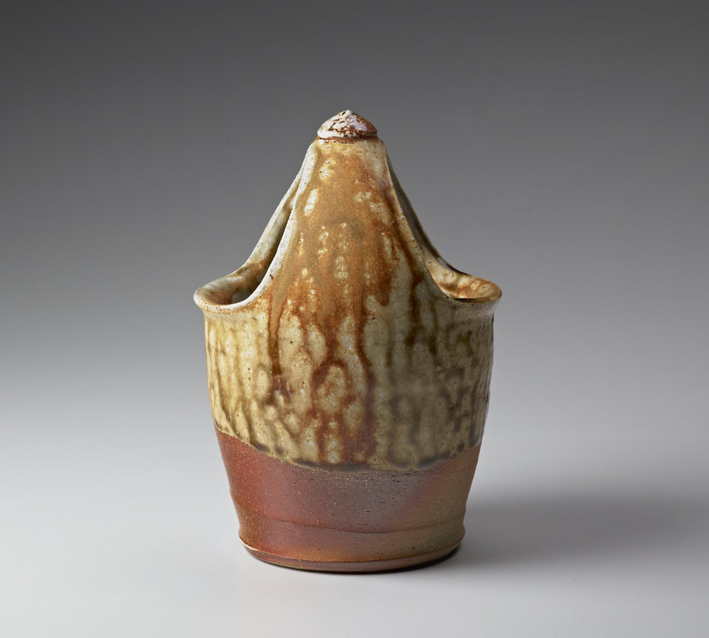 "Mary Law, Basket Vase, wheel-thrown stoneware, soda fired, 6""H x 4"" x 4"". Photo: M. Lee Fatherree"