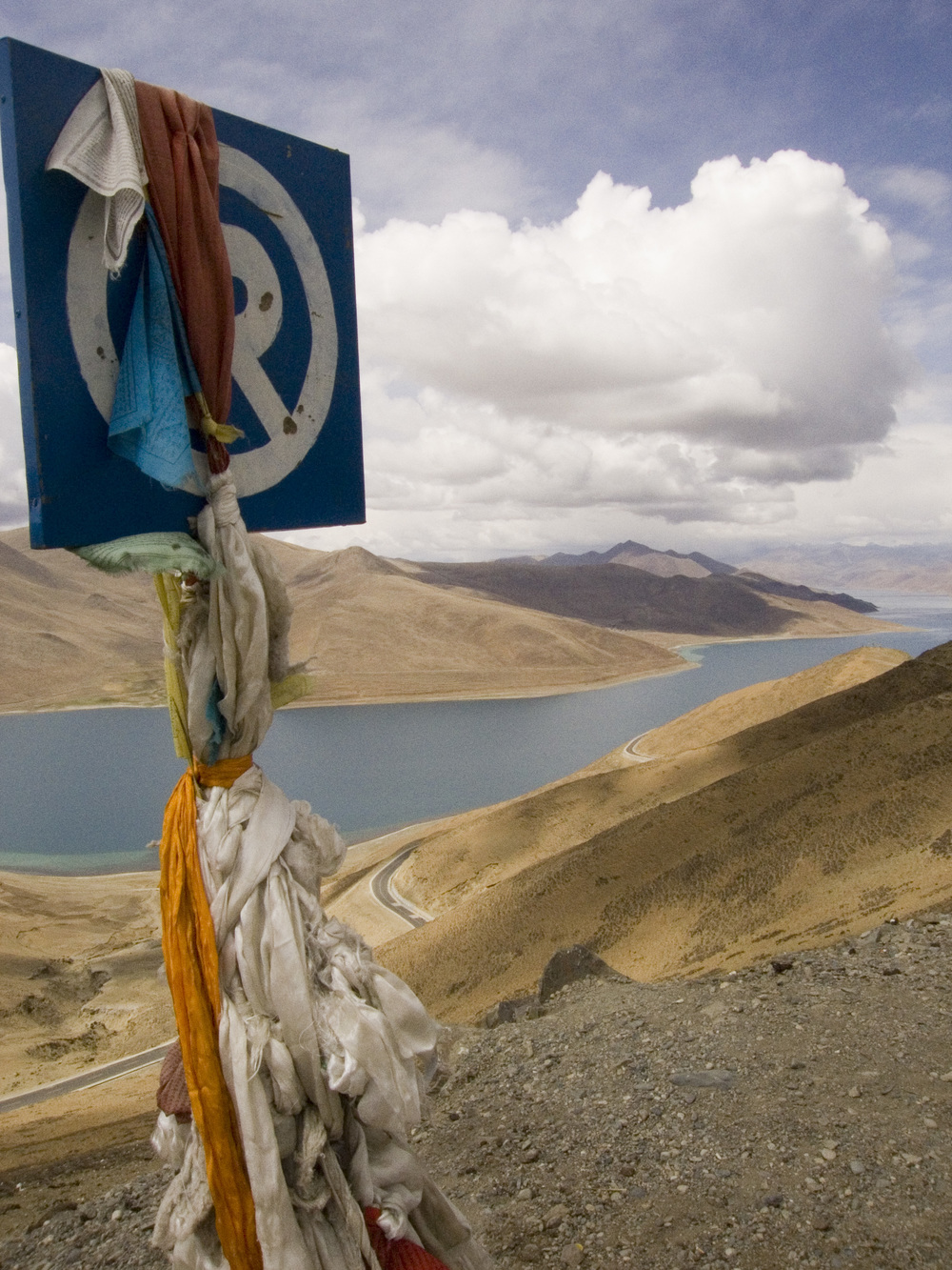 Yamdrok Tso Lake En Route to Gyantse, Tibet, 2007