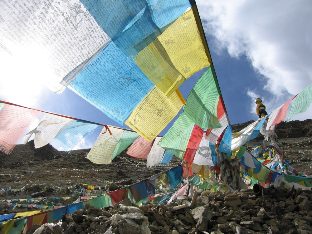Buddhist Prayer Flags, Tibet, 2007