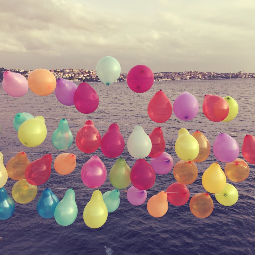 Balloons Along the Bosphorus (Istanbul, Turkey), 2015