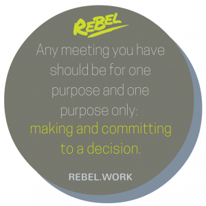 purpose of a meeting