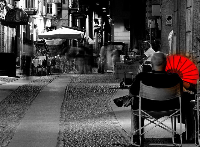 man sitting on a chair in spain