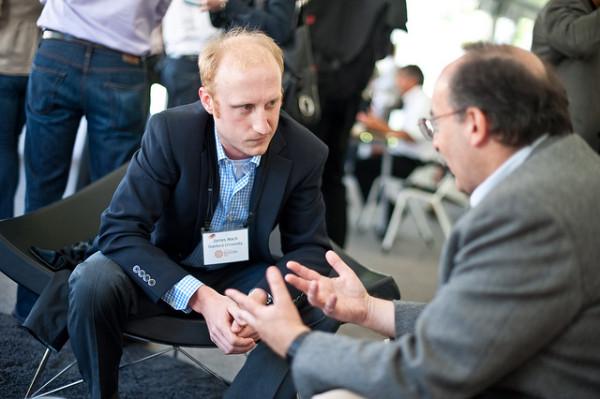 two men brainstorm