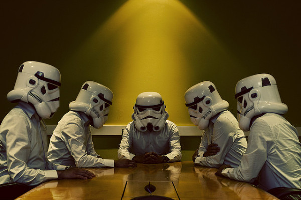 stormtroopers having a meeting