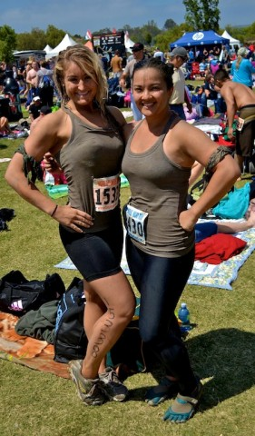 Deej and Marissa at the Camp Pendleton Mud Run