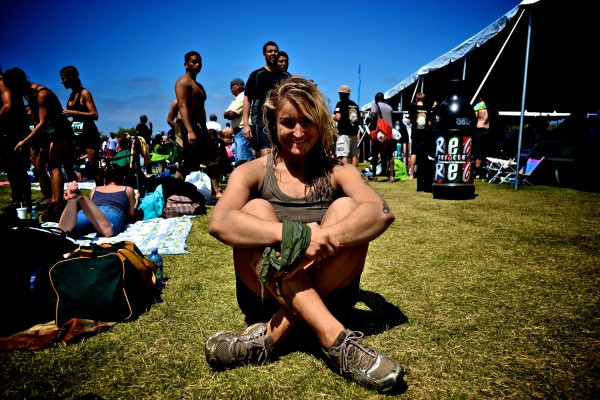 Diana Weishar after the Camp Pendleton Mud Run