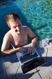 telecommuting by pool