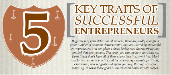 5 key traits of successful entrepreneurs