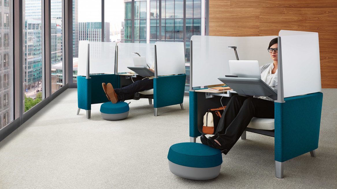 open office cubicles. Contemporary Open Photo Via Steelcase  With Open Office Cubicles