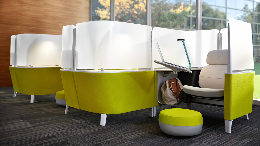 Open office cubicles Build Your Own Photo Via Steelcase The Alexander Group These Cocoon Cubicles Will Save Your Sanity In An Open Office