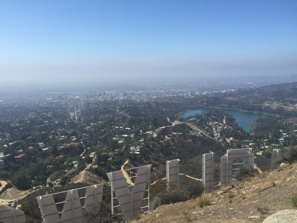 Our unretouched view of the Hollywood sign. © Marissa Brassfield