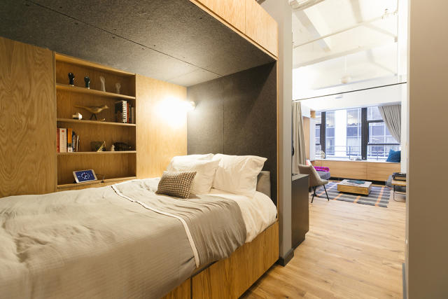 An apartment at WeLive's space in New York City.