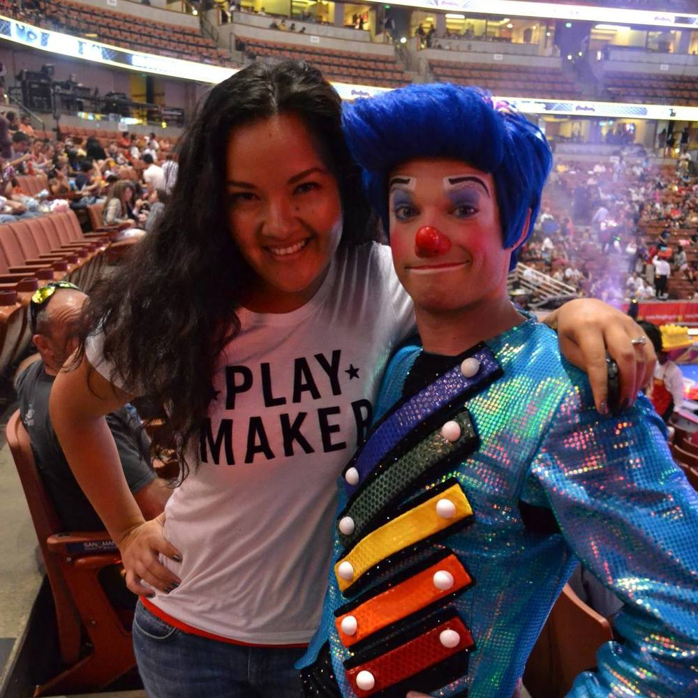 marissa brassfield with billy murray before a ringling bros. show