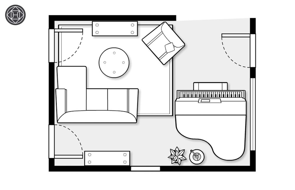 Our Havenly-designed floor plan.