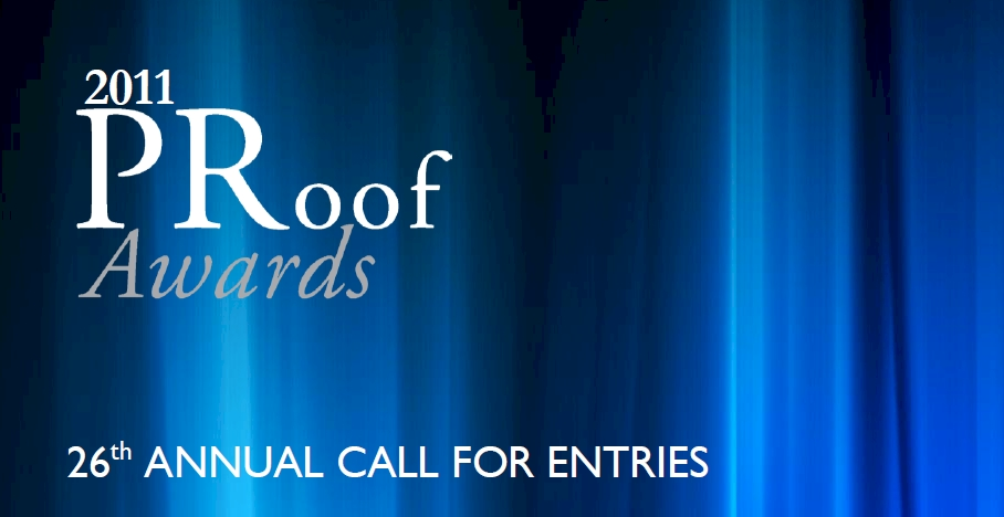 26th Annual PRoof Awards Call for Entries
