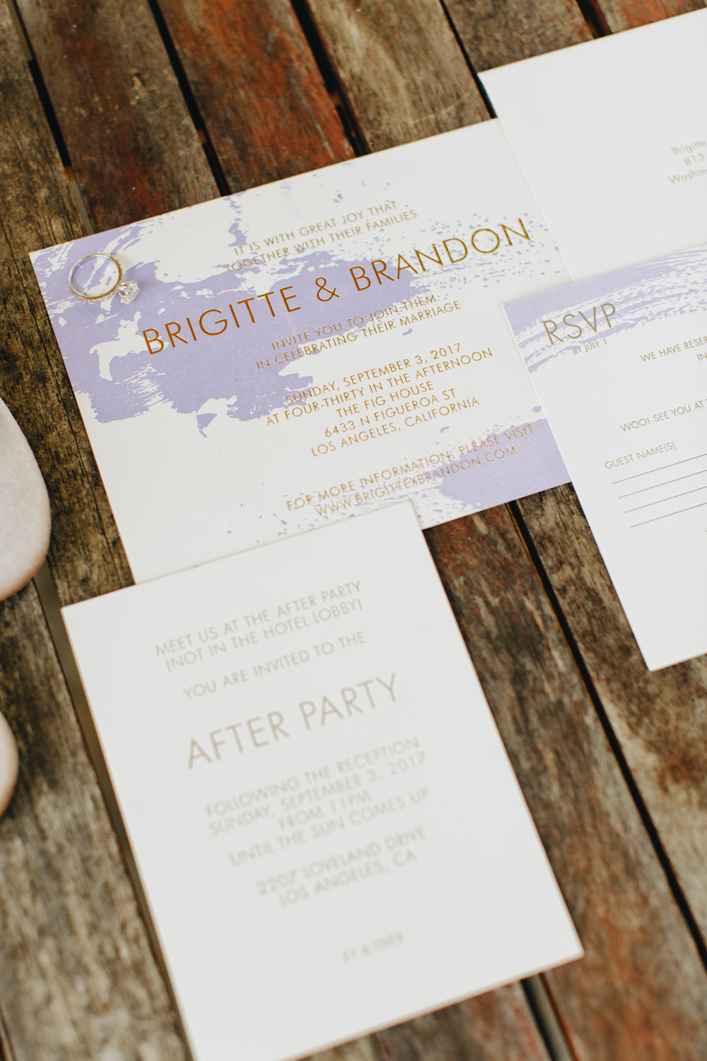 lavender and white modern invitation suite.jpg
