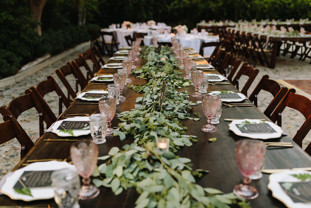 greenery garland hummingbird nest ranch wedding.jpg