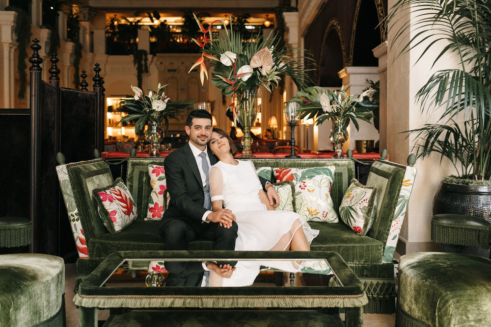 nomad hotel wedding modern bride and groom.jpg