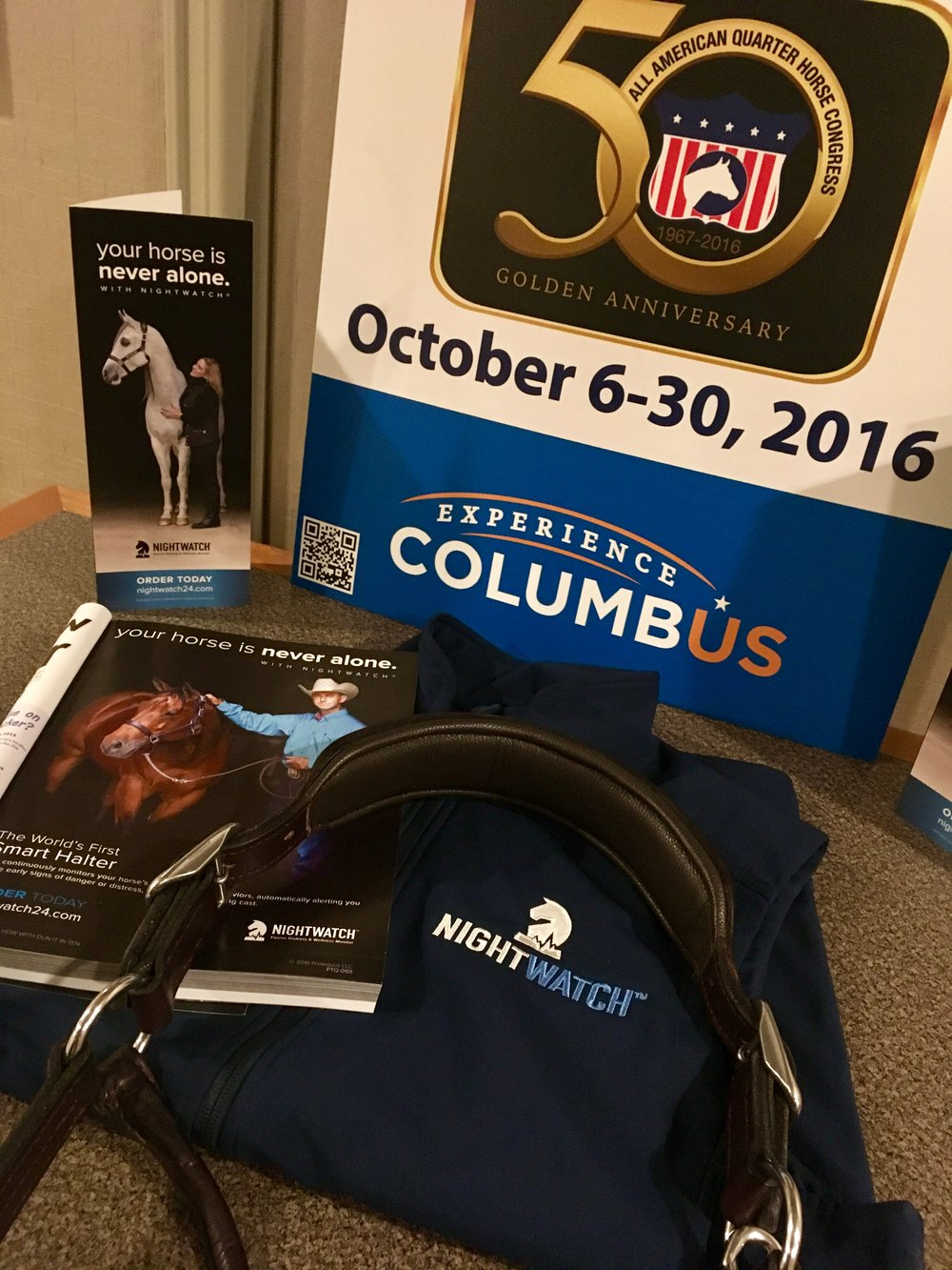 NIGHTWATCH® among the 20,000+ entries in the 50th All American Quarter Horse Congress in Columbus, Ohio.