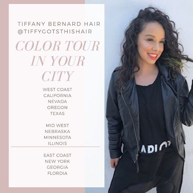 2020 is about to be LIT LIT🔥 Don't see your city? Let me be in your salon! Salons if your wanna host me holla 💌 can't wait to travel the USA from west coast to east coast what do you want to see?! Let's paint some freakin' HAIR 🎨 #tiffanybernardHAIR