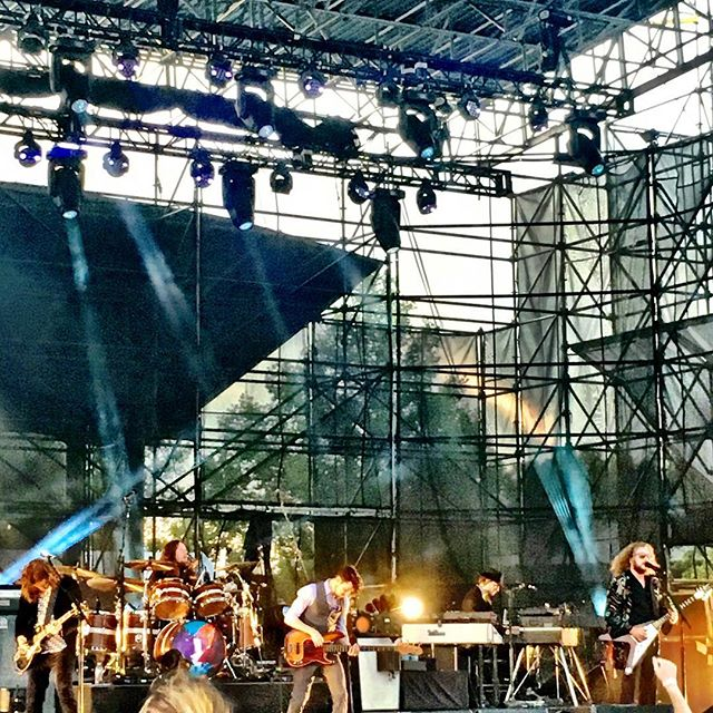 Great way to start off the summer concert series at the @farmbureaulawn with @mymorningjacket !