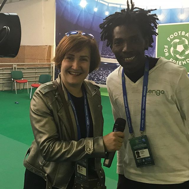 @emanuel.saakai was briefly interviewed in this inspiring news story by Ирина Опря on Ukraine TV about the recent @footballforfriendship program in Moscow. Check it out for a different take on the program from the Ukrainian perspective. Link in bio ⚽️