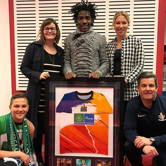 We were proud to attend a presentation at Overnewton Anglican Community College this week to hear Nikki Little and Noah Borg present on their experiences of changing the world at the @footballforfriendship program in Russia.  They presented Lengo Football Academy with a #F4F  framed gift to say thanks for the work that we did to send the Australian delegation to Moscow in June.  Thanks to Overnewton Anglican Community College for partnering with us for the 2018 #F4F program!  #F4F #LengoinRussia2018 #ScoringGoalsforLife