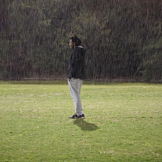 """Our founder @emanuel.saakai was truly living one of our values and """"working hard"""" at training last night at FC Clifton Hill  He throws everything into scoring goals for life no matter what the conditions - rain, hail or shine!  Thanks @FootballMusicCulture for capturing the moment!  #LengoFootballAcademy #ScoringGoalsforLife #FMC"""