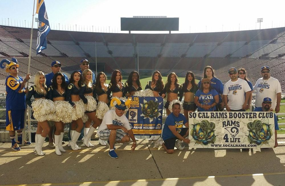 Our So Cal Rams Booster Club Advisory Board Members w/ #LARams Cheerleaders