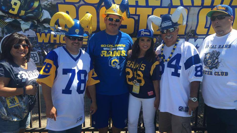 ABC's Ch.7 TV Personality  Alysha Del Valle  w/ the So Cal Rams Booster Club at the Rams vs. Cowboys Pre-SeasonTailgate (2016)