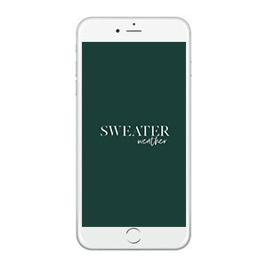Sweater Weather Wallpaper