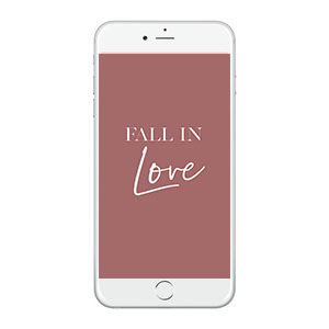 Fall In Love Wallpaper