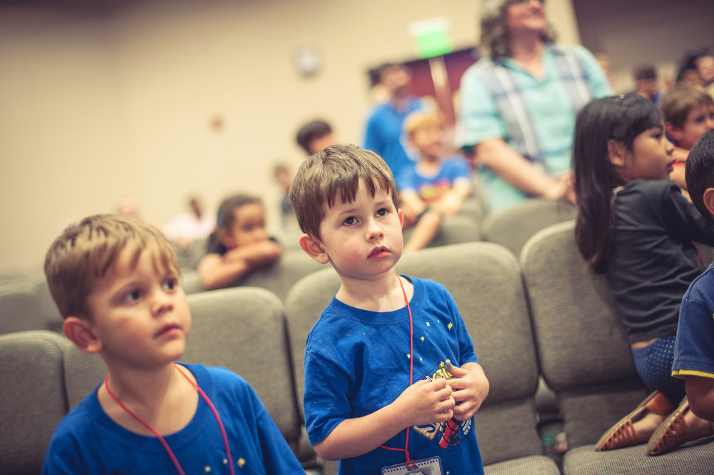 Preschool Worship Hour - During the Worship Service at 11:00am, infants - preschool are engaged in fun and exciting Bible lessons and activities that are both age-appropriate and foundational in their spiritual development.