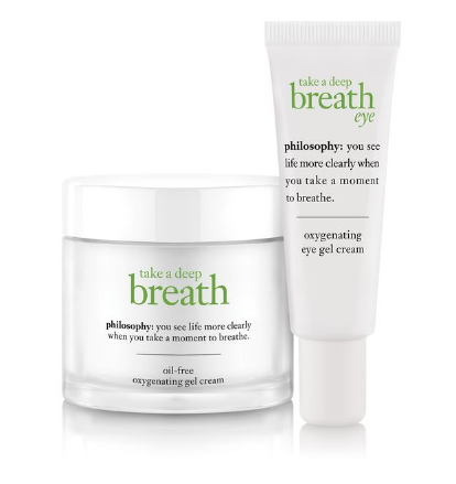 Philosophy Take a Deep Breath Gel Cream and Oxygenating Eyecream Duo