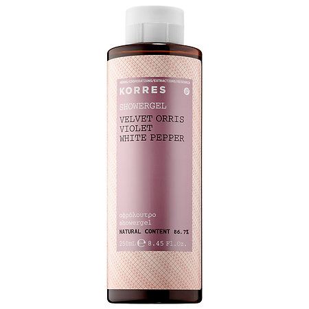 Korres   Velvet Orris Violet White Pepper Showergel; $18.50