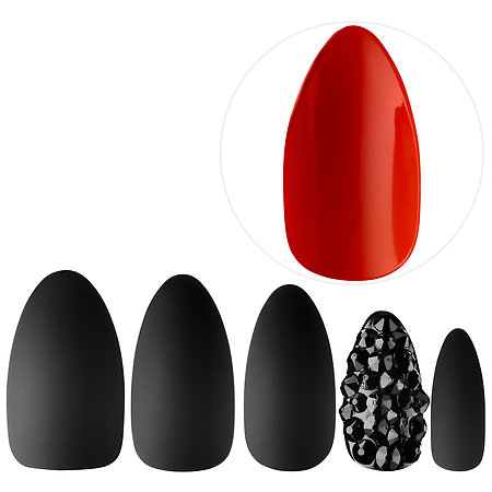 Static Nails  All In One Pop On Manicure Kit: Red Bottom; $38