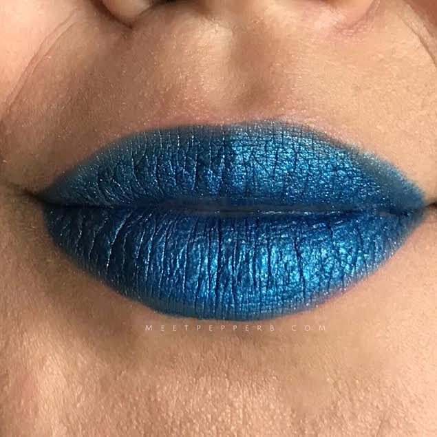 Blue Fleet - Not my cup of tea. Looks good, just not for me. I would suggest using a lip liner with this shade for a cleaner look. The glitters are not gritty