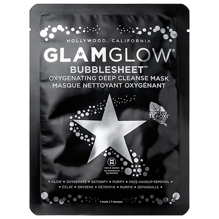 GLAMGLOW   BUBBLESHEET™ Oxygenating Deep Cleanse Mask;   $9