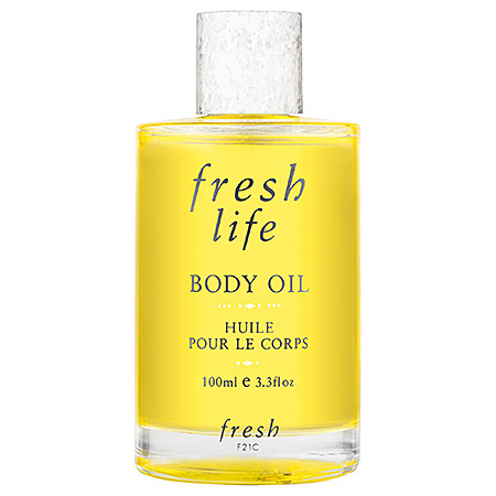 Fresh Beauty   Fresh Life Body Oil;   $48