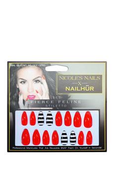 N     ailhur   Fierce Feline Stiletto Nails;   $15.99