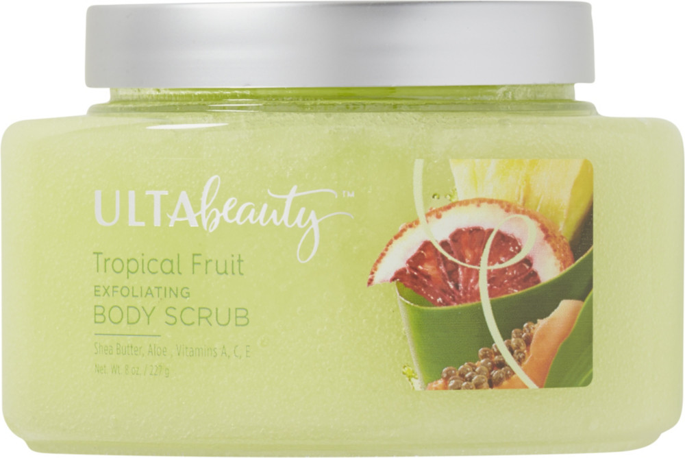 U     lta   Tropical Fruit Exfoliating Body Scrub;    $     12