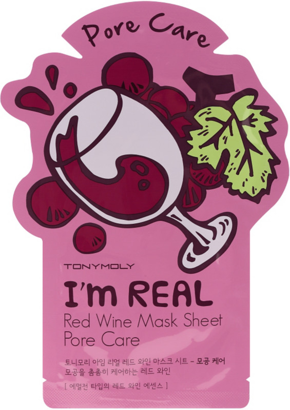 T     ony Moly   I'm Real Holiday Red Wine Face Mask