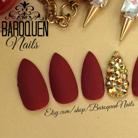 Baroquen Nails    Matte Maroon Nails