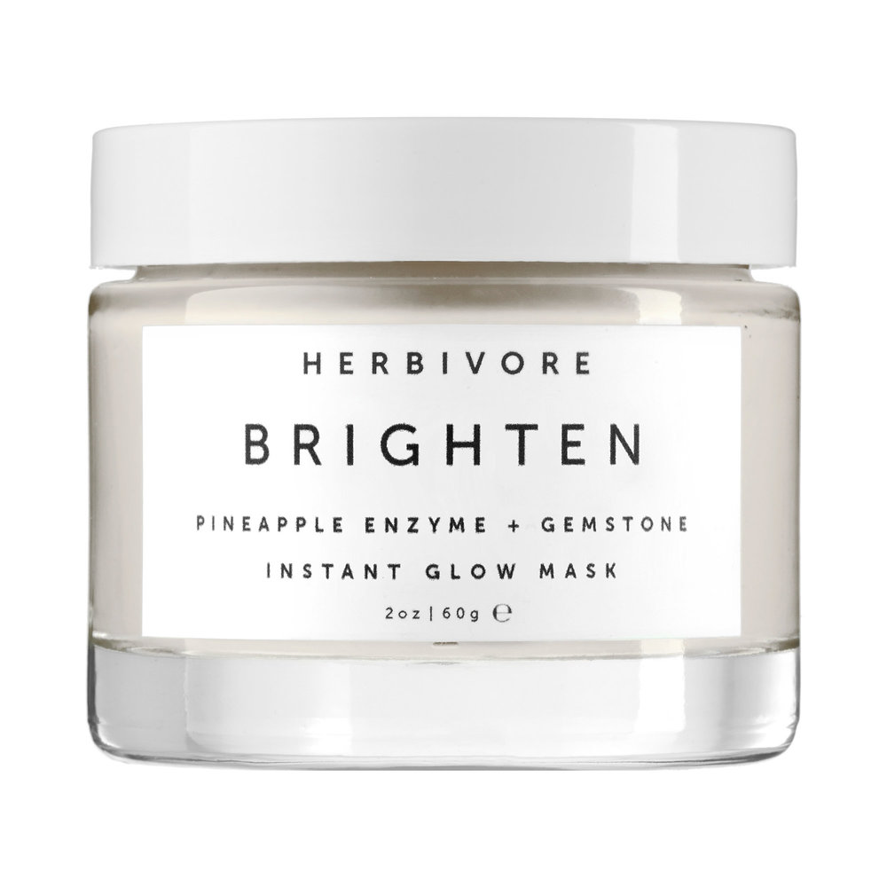 Herbivore   Brightening Pineapple Enzyme + Gemstone Instant Glow Mask