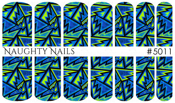 E     tsy -  NaughtyNailsShop  Full Nail Decal Water Transfer Tattoo
