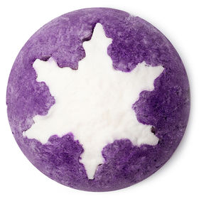 Lush   Plum Snow Bubble Bar